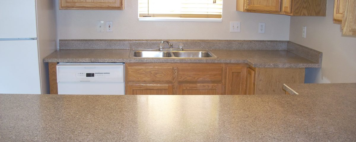 two different formica countertops